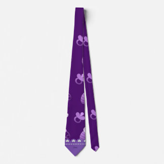 Name purple baby pin carriage pacifier neck tie