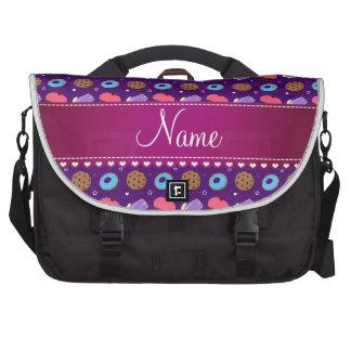 Name purple cupcake donuts cake cookies commuter bag