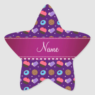 Name purple cupcake donuts cake cookies sticker
