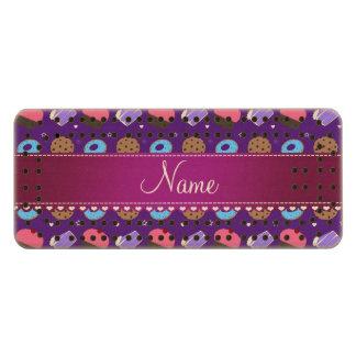 Name purple cupcake donuts cake cookies wood cribbage board