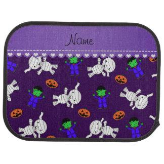 Name purple frankenstein mummy pumpkins car mat