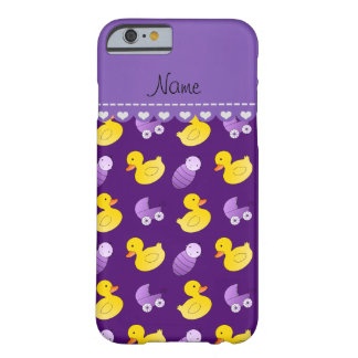 Name purple rubberduck baby carriage barely there iPhone 6 case
