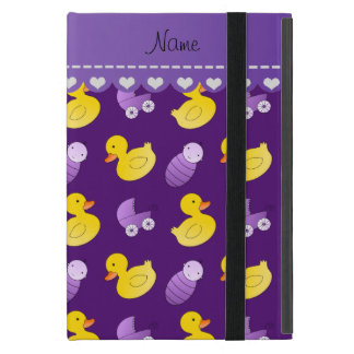 Name purple rubberduck baby carriage case for iPad mini