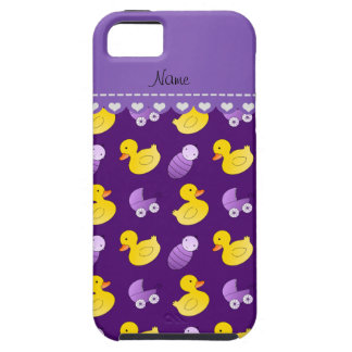 Name purple rubberduck baby carriage iPhone SE/5/5s case