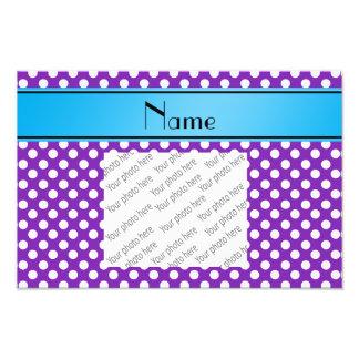 Name purple white polka dots blue stripe photo