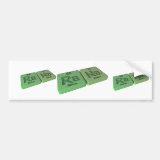name-Rana-Ra-Na-Radium-Sodium Bumper Sticker