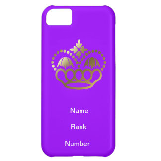 Name, rank and Number purple Case For iPhone 5C