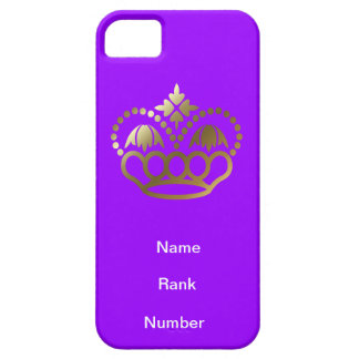 Name, rank and Number purple iPhone 5 Case