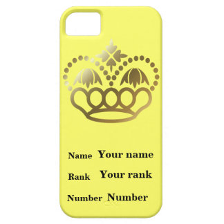 Name, rank and number, with crown iPhone SE/5/5s case