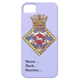 Name, rank, Number, HMS Cochrane iPhone SE/5/5s Case