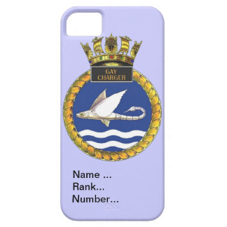 Name, rank, Number, HMS Gay Charger iPhone SE/5/5s Case