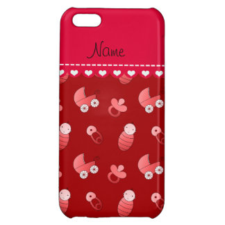 Name red baby pin carriage pacifier iPhone 5C cases