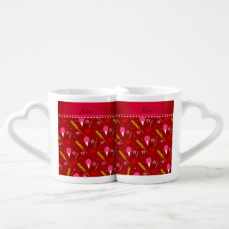 Name red cotton candy apples corn dogs couples' coffee mug set
