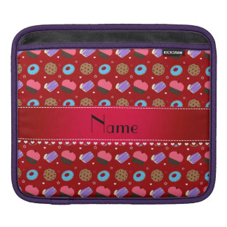 Name red cupcake donuts cake cookies sleeve for iPads