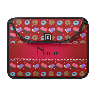 Name red cupcake donuts cake cookies sleeves for MacBook pro