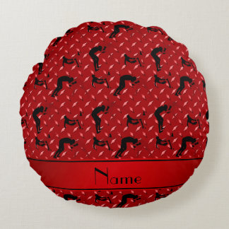 Name red diamond steel plate wrestling round pillow