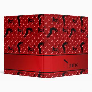 Name red diamond steel plate wrestling vinyl binder
