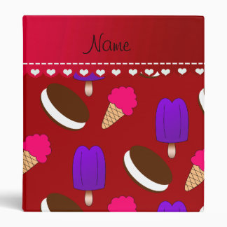 Name red ice cream cones sandwiches popsicles 3 ring binder