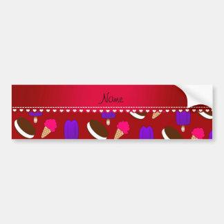 Name red ice cream cones sandwiches popsicles car bumper sticker
