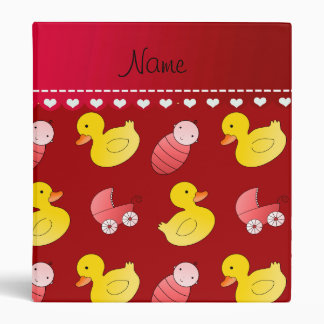 Name red rubberduck baby carriage 3 ring binder