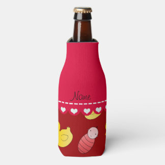 Name red rubberduck baby carriage bottle cooler