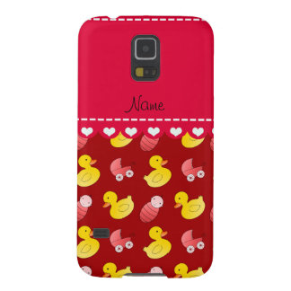 Name red rubberduck baby carriage case for galaxy s5