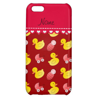 Name red rubberduck baby carriage iPhone 5C case