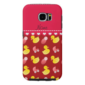 Name red rubberduck baby carriage samsung galaxy s6 case