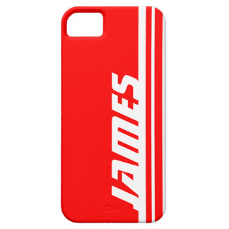 Name red & white stripe sport iphone 5 case
