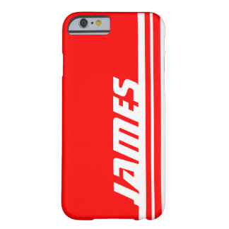 Name red & white stripe sport iPhone 6 case