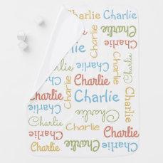 Name Repeating Custom baby blanket