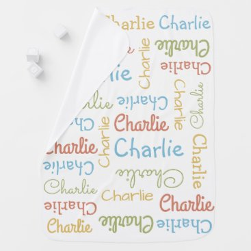 Toddler & Baby themed Name Repeating Custom baby blanket