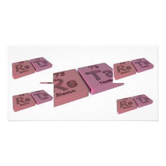 name-Reta-Re-Ta-Rhenium-Tantalum Photo Cards