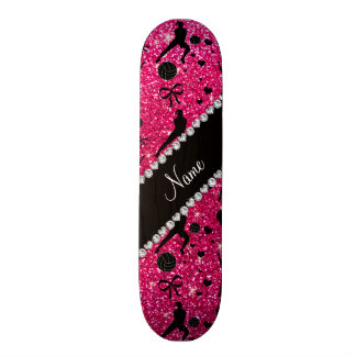 Name rose pink glitter volleyballs hearts bows skate boards