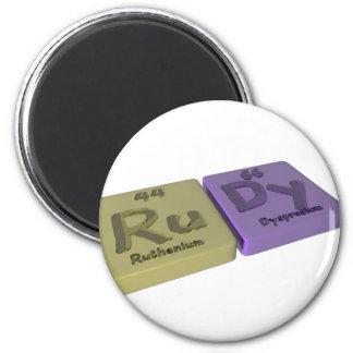 name-Rudy-Ru-Dy-Ruthenium-Dysprosium 2 Inch Round Magnet