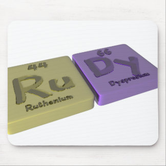 name-Rudy-Ru-Dy-Ruthenium-Dysprosium Mouse Pad