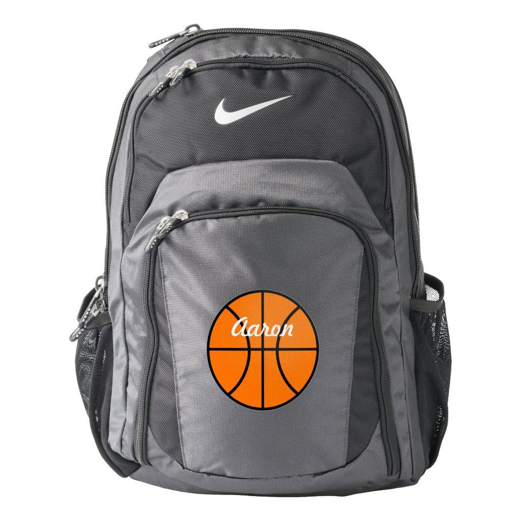 Name School Sports Book Basketball Backpack Gift