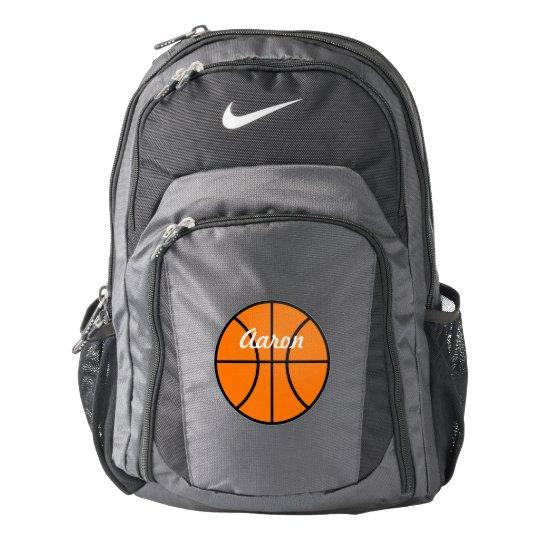 Name School Sports Book Basketball Backpack Gift | Zazzle