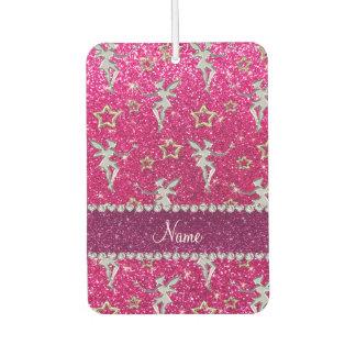 name silver fairy gold stars neon hot pink glitter car air freshener