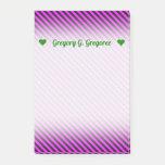 [ Thumbnail: Name + Simple Fuchsia & Black Stripes Pattern Notes ]