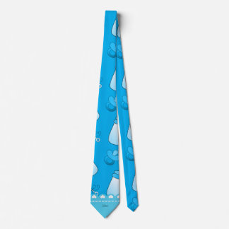 Name sky blue baby bottle rattle pacifier tie