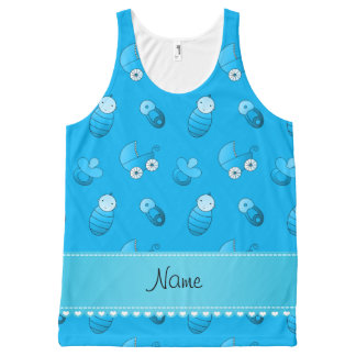 Name sky blue baby pin carriage pacifier All-Over print tank top
