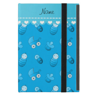 Name sky blue baby pin carriage pacifier case for iPad mini