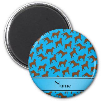 Name sky blue Bouvier des Flandres dogs 2 Inch Round Magnet