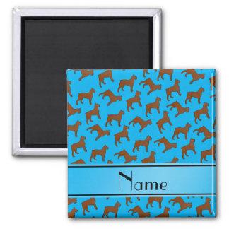 Name sky blue Bouvier des Flandres dogs 2 Inch Square Magnet