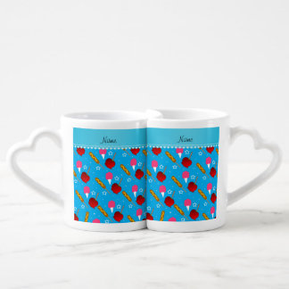 Name sky blue cotton candy apples corn dogs couples' coffee mug set