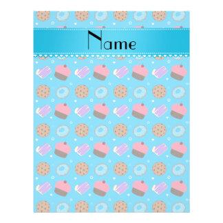 Name sky blue cupcake donuts cake cookies custom flyer