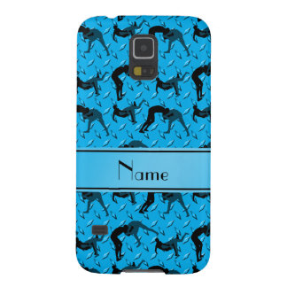 Name sky blue diamond steel plate wrestling galaxy s5 case