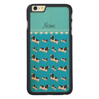 Name sky blue english cocker spaniel dog carved® maple iPhone 6 plus slim case