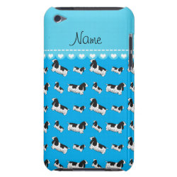 Name sky blue english cocker spaniel dog iPod Case-Mate case